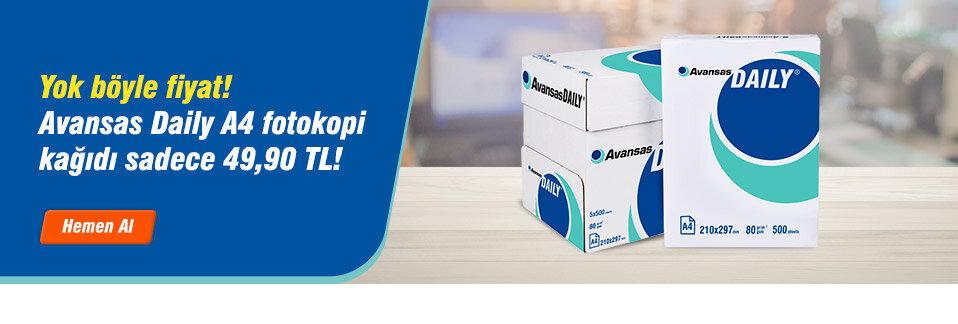 Avansas Daily A4 Fotokopi Kağıdı 80 gr 1 Koli Sadece 49,90 TL!