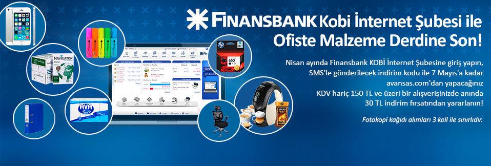 Finansbank Kobi İnternet Şubesi müşterilerine 150 TL ve üzeri alışverişlerinde anında 30 TL indirim!