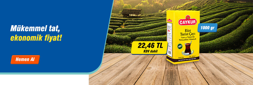 Çaykur EDT Rize Turist Çayı 1000 gr kargo bedava avantajı ile 1 iş gününde kapınızda!