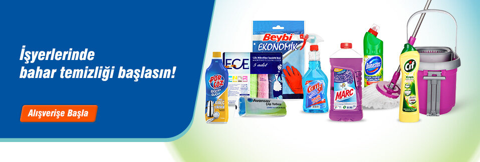 Dev markaların en çok tercih edilen temizlik ürünleri uygun fiyatlarla Avansas.com'da!
