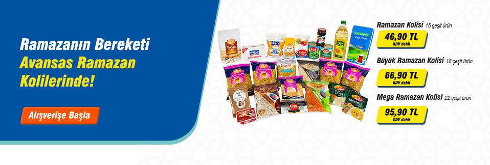 Çalışanlarınız için farklı boy Ramazan Kolileri Avansas.com'da!