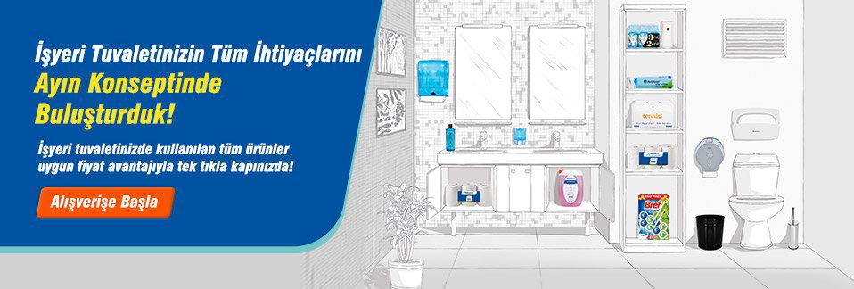 Tuvaletinizde kullanılan tüm ürünler uygun fiyat avantajıyla tek tıkla kapınızda!