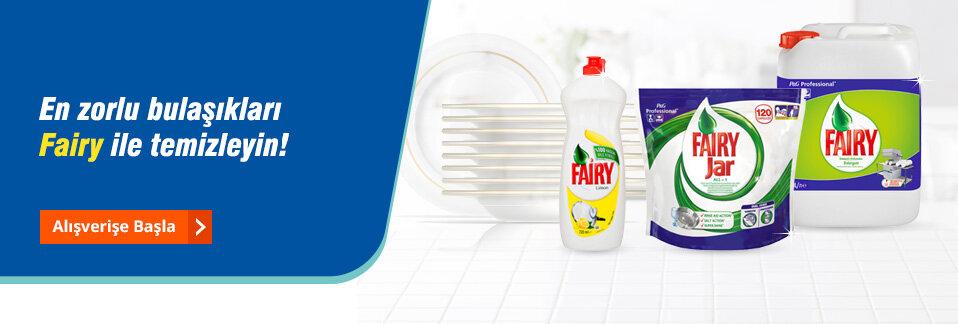 Zorlu kirlere karşı mutfaktaki profesyonel yardımcınız Fairy ürünleri Avansas.com'da!