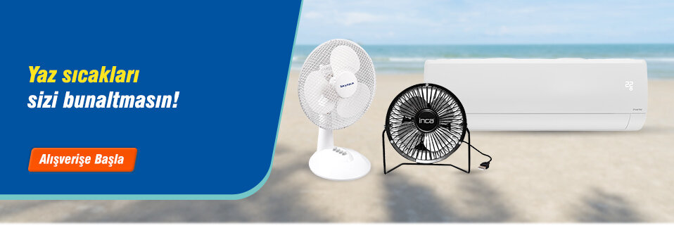 Yaz sıcaklarına serinleten çözümler avantajlı fiyatlarla Avansas.com'da!