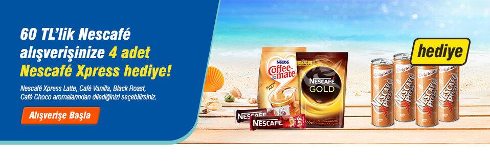 Nescafé lezzetleri şimdi serinleten Nescafé Xpress hediyeleri ile daha keyifli!
