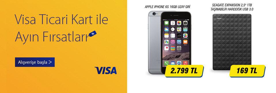 Visa ticari kredi kartlarına özel stoklarla sınırlı ayın ürünleri kaçırılmayacak fiyatlarla!