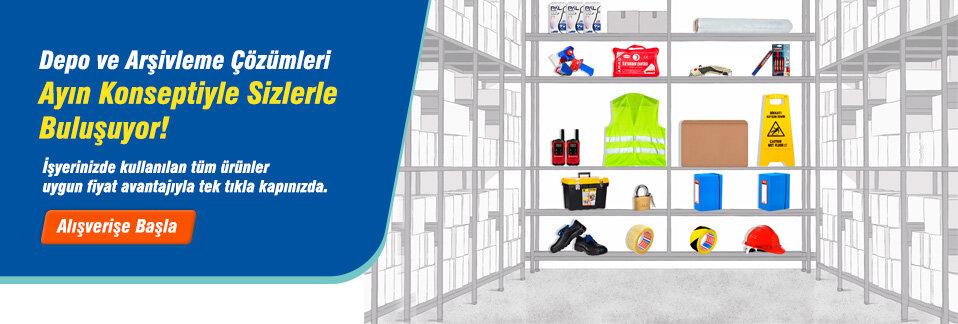 Depo ve arşivlerde bulunması gereken tüm ürünler uygun fiyat avantajıyla tek tıkla kapınızda!