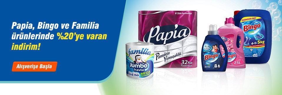 En sevilen Bingo, Papia ve Familia ürünleri 1 iş gününde kapınızda!
