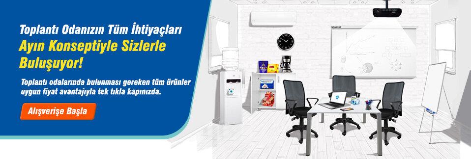 Toplantı odanızda bulunması gereken tüm ürünler uygun fiyat avantajıyla tek tıkla kapınızda!
