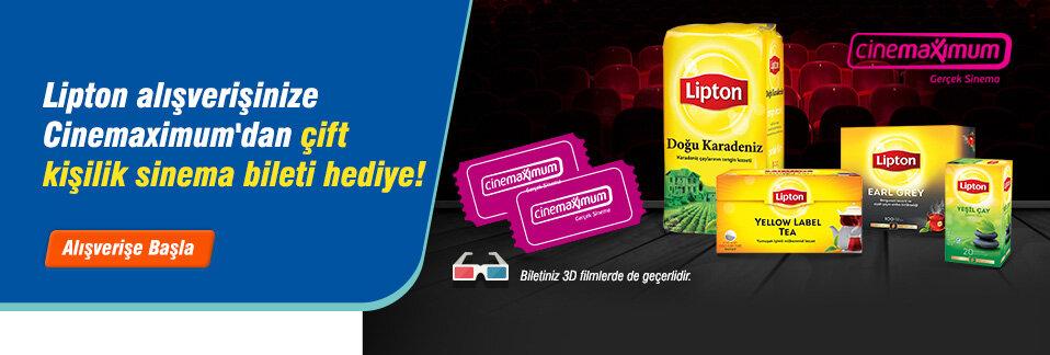 KDV dahil 100 TL ve üzeri Lipton çay alanlar çift kişilik sinema bileti kazanıyor!