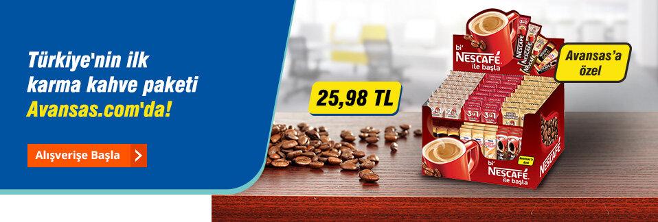 Nescafé'nin en sevilen lezzetleri 75'li karma paketi ve uygun fiyat avantajıyla sadece Avansas.com'da!