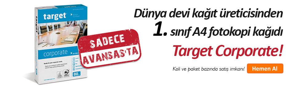 Dünya devi kağıt üreticisinden Target Corporate A4 Fotokopi Kağıdı sadece Avansas.com'da!