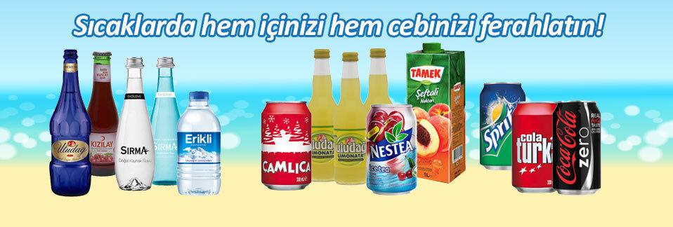 Su, soda, meyve suyu ve gazlı içeçeklerde aradığınız tüm markalar Avansas.com'da!